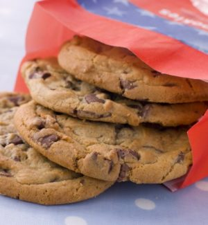 Cookies in printed paper bag