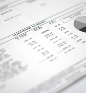 Financial statement printed on freesheet alternative Frontier Supreme