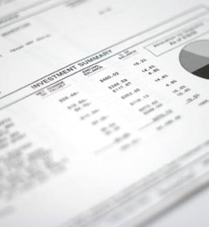 Financial statement printed on freesheet alternative Frontier Supreme