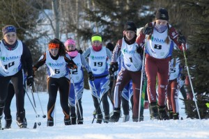 Cross Country Skiers Competitng