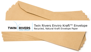 Recycled, Natural Kraft Envelope Paper