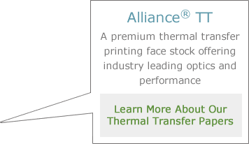 Learn more about our thermal transfer label papers