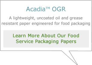 Learn more about our food service packaging papers